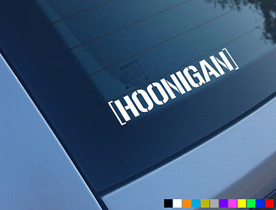 Hoonigan Car Sticker Ken Block Funny Hoon Window Fiesta Euro Jdm Drift Decal