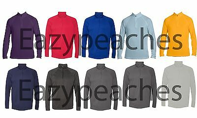 Peaches Pick ALO Mens NEW Size S-2XL 1/4 Zip Pullover Moisture Wick Shirt Jumper
