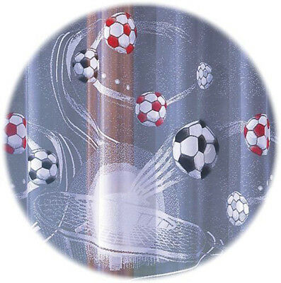 Kids Net Curtain Football Sold by the Metre Children Room Decoration SLOT top