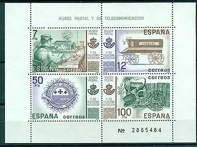 TRASPORTI POSTALI - MAIL TRANSPORTS SPAIN 1981 block