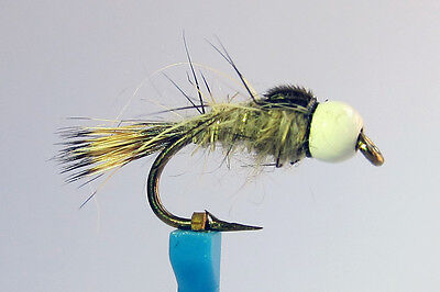 1x Mouche Nymphe Queue Faisan BILLE CUIVREE H10//12//14//16//18//20 fly nymph fishing