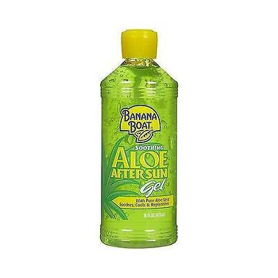 NEW Banana Boat Soothing ALOE After Sun Gel with Pure Aloe Vera-16 OZ