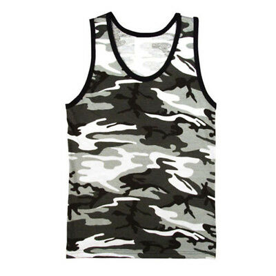 Army Vest Combat Men Tank Top Military Fashion Fancy Dress Sleeveless Urban Camo