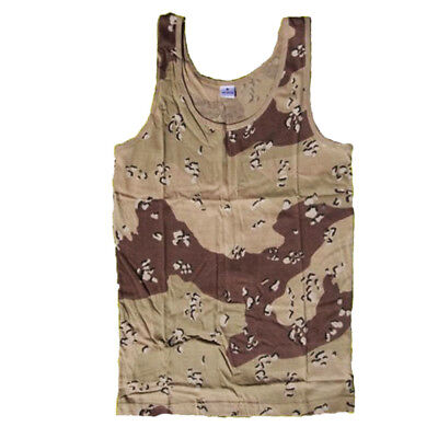 Army Vest Combat Men Tank Top Military Fashion Fancy Dress Sleeveless 6 Desert
