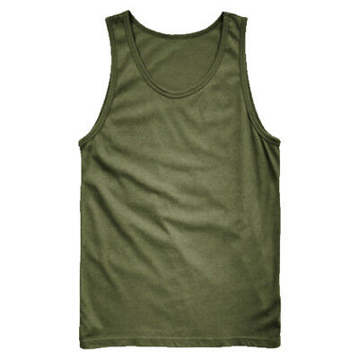 Army Vest Combat Men Tank Top Military Us Fashion Fancy Dress Sleeveless Olive