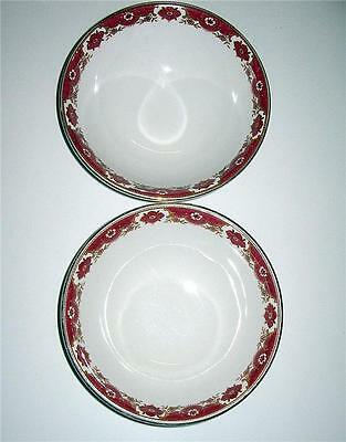 2 Lovely Dessert Bowls/ Maddock Royal Vitreous / Near Mint Cond