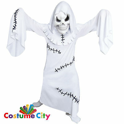 Childs Boys Scary Ghastly Ghoul Ghost Halloween Fancy Dress Party Costume