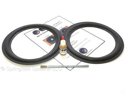 "2 Pioneer 10"" S-1010 Speaker Foam Surround Repair Kit - S-510, XD11 - 2A10"