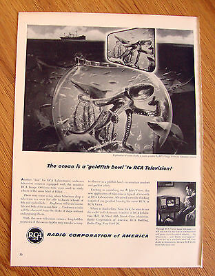 1947 RCA Radio Ad The ocean is a Goldfish Bowl to RCA Television
