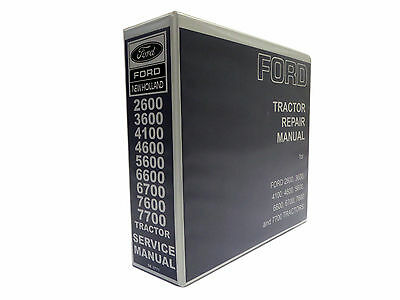 Ford Tractor 2600,3600,4100,4600,5600,5900,6600,7600 Service Manual Repair Shop