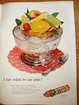 1947 Life Savers Candy Ad A Fruit Cocktail for your Pocket!