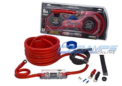 ★ NEW STINGER TRU SPEC 0 AWG GAUGE CAR STEREO AMP INSTALL POWER WIRING KIT 0G ★