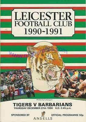 LEICESTER v BARBARIANS 1990 RUGBY PROGRAMME