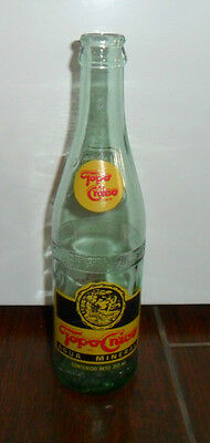 VINTAGE TOPO CHICO AQUA MINERAL WATER BOTTLE MEXICO IN CREEK LABEL RARE HI GRADE