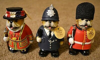 RESIN REGENCY BRITISH BULLDOG SOLDIER POLICEMAN or BEEFEATER FIGURE ORNAMENT
