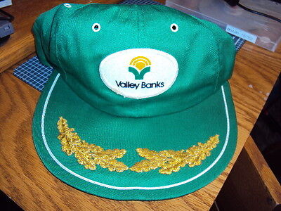 1980's VALLEY BANKS Hat Cap cloth old school Design - Snap Back GREAT