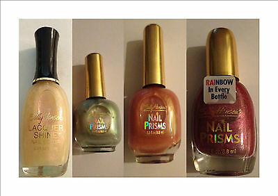 Sally Hansen Lacquer Shine Nail Color Nail Polish Various Colors Brand New