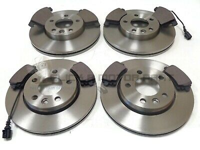 VW TRANSPORTER T5 2.0 TDi FRONT AND REAR BRAKE DISCS & PADS SET WITH SENSORS NEW