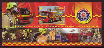 Isle Of Man 2013 Fire And Rescue Miniature Sheet Unmounted Mint, Mnh