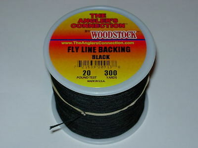 WOODSTOCK  ANGLERS CONNECTION Fly Line Backing 20lb x 300yds VARIOUS COLOURS