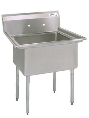 """Stainless Steel One Compartment Sink 16""""L x 20""""W x 12""""D BKS-1-1620-12-09"""