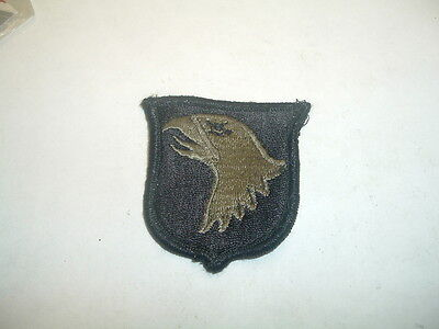 Military Us Army Patch 101St Airborne Division Black Subdued Older Used