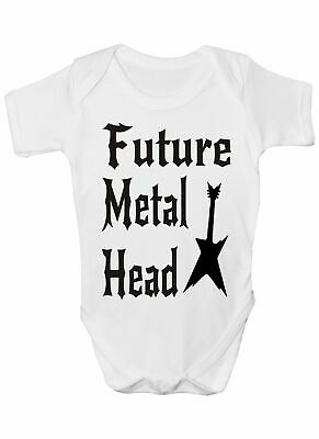 Future Metal Head  Rock Babygrow Vest Baby Clothing Funny Gift