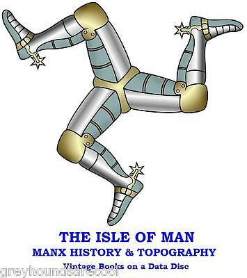 Isle of Man Manx Local History Topography Language 34 IOM Vintage Books on Disc