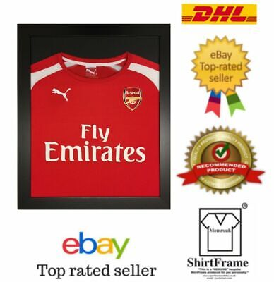 *2200+Sold* Frame For Shirt Display Diy Black Frame Black Mount Football Tshirt