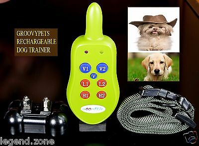 1000 Feet Rechargeable Remote 1 Dog Trainer Shock Vibration Bark Training Collar