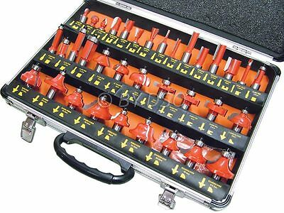 35 piece Sealed Bearings 1/2 Inch Router Set Flush Dove Panel Mortice Drill Bits