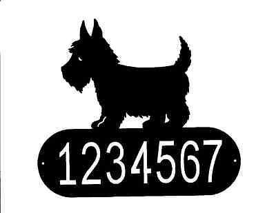 SCOTTISH TERRIER address or name sign metal steel home house silhouette plaque