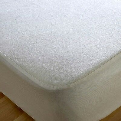 New Terry Towel Waterproof Fitted Mattress Protector in Single Double King Cover
