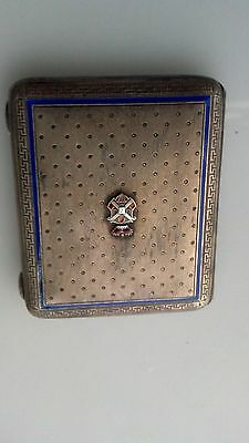 Carl Hiess Silver And Enamel Cigarette Case - Price Reduced!!