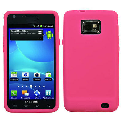 Straight Talk Samsung Galaxy S II 2 S959G Rubber SILICONE Skin Case Cover H Pink