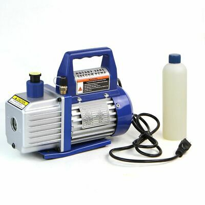 3CFM Rotary Vane Deep Vacuum Pump Single Stage 1/4HP HVAC AC Air Tool R410a R134