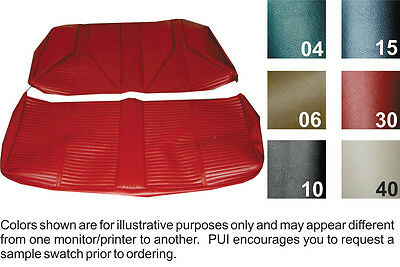 1967 BUICK SKYLARK/GS/SPECIAL COUPE REAR SEAT COVER  6 COLORS AVAILABLE
