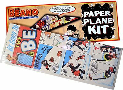 The Beano paper plane kit - Comic pages pre designed to make aeroplanes