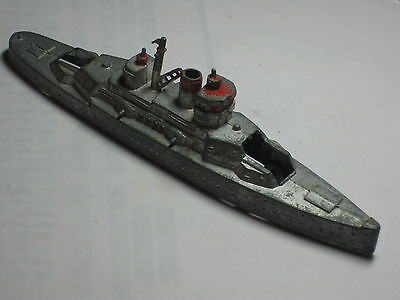 Old Vtg Antique Collectible Metal Tootsietoy Military Ship Toy Made In USA