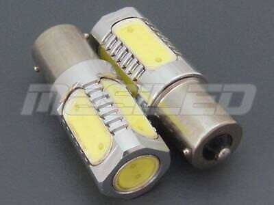 2 bombillas LED BA15S P21W 5 SMD COB 7.5W color blanco puro 5000K