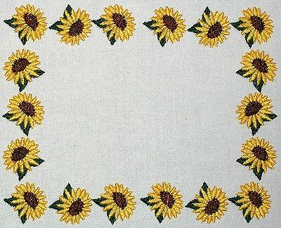 Sunflower Embroidered Quilt Label Customize for quilt tops or blocks