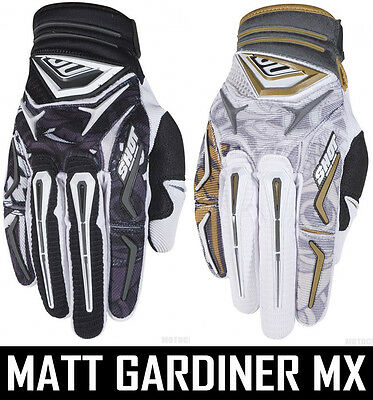 MENS SHOT FLEXOR MOTOCROSS MX GLOVES NEW HIRO BLACK WHIITE gants enduro bike