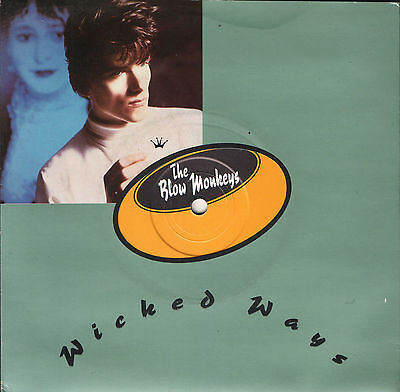 """THE BLOW MONKEYS wicked ways/walking the blue beat MONK 2 rca 1986 7"""" PS EX/EX"""