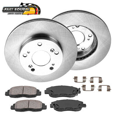 Front Rotors & Ceramic Pads For 2006 2007 2008 2009 - 2011 Honda Civic EX LX DX