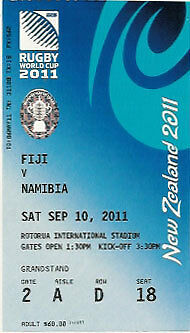 FIJI v NAMIBIA 2011 RUGBY WORLD CUP TICKET POOL D MATCH no3
