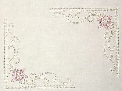 Delicate Lace Embroidered Quilt Label Customize for quilt tops or blocks