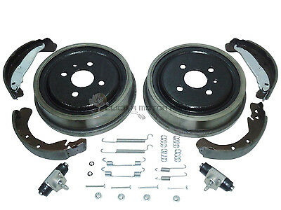 Vauxhall Astra G Mk4 98-04 Rear 2 Brake Drums And Shoes Cylinders + Fitting Kit