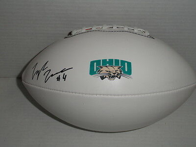Tyler Tettleton Signed Football Ohio Bobcats Autographed