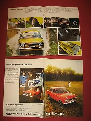N°4272 / FORD : catalogue ESCORT ,editions Suisse ,gamme aôut  1973