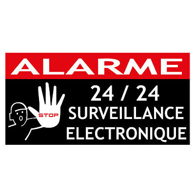6 stickers diagral autocollant alarme protection somfy for Autocollant alarme maison